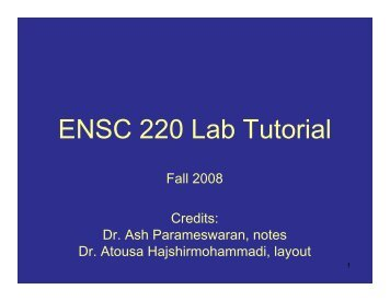 ENSC 220 Lab Tutorial