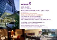 UAE - DUBAI AURIS FIRST CENTRAL HOTEL SUITES 4*lux - Wayout