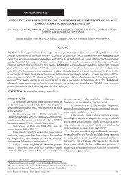 artigo original prevalência de meningite em crianças no hospital ...