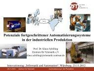 Vortrag Prof. Dr. Klaus Schilling - TGZ Würzburg