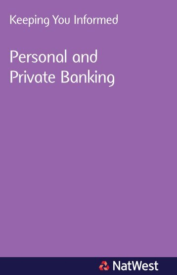 Personal and Private Banking - NatWest