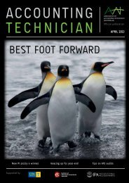 best foot forward - Association of Accounting Technicians