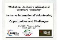 Inclusive International Volunteering - bezev eV