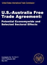 US International Trade Commission - Understanding Dairy Markets