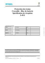 Protection des trains Crocodile - Bloc de batterie ... - Infrabel
