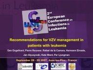 Cas cliniques Recommendations for VZV management in patients ...