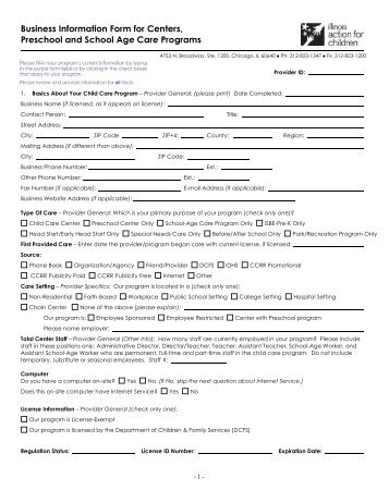 Registration begins July 8, 2013 - Illinois Action for Children