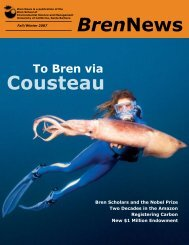 BrenNews Cousteau - Bren School of Environmental Science ...