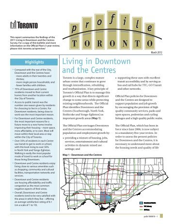 Living in Downtown and the Centres - City of Toronto