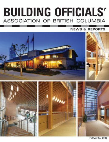 Fall/Winter 2005 - Building Officials' Association of BC