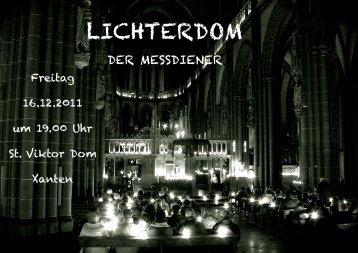 Lichterdom Messdiener - St. Viktor Xanten