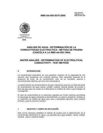 NMX-AA-093-SCFI-2000 ANÁLISIS DE AGUA ... - CONAGUA
