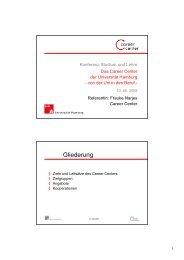 Das Career Center der Universität Hamburg - STiNE - Universität ...