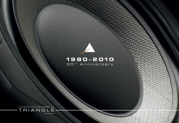 Triangle 30th Anniversary Brochure - Audiowaveshifi.com