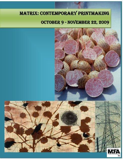 Matrix: Contemporary Printmaking - Museum of Fine Arts - Florida ...