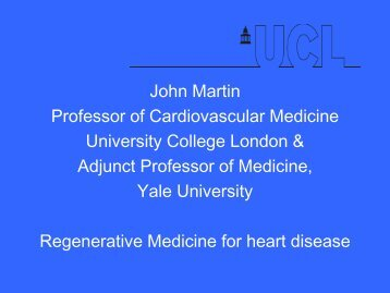 Regenerative Medicine for heart disease
