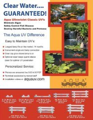 Classic Clear Water Pond Brochure - Aqua Ultraviolet