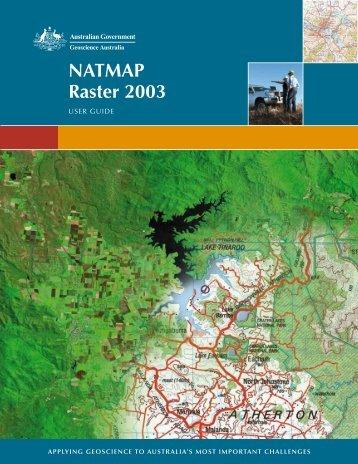 NATMAP Raster 2003 User Guide - Geoscience Australia