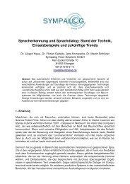 Spracherkennung und Sprachdialog: Stand der Technik ...