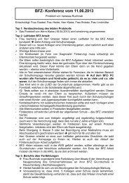 BFZ Protokoll 11.06.2013 - Alfred-Wegener-Schule