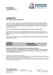 Preisblatt POWER Öko - Stadtwerke Ebermannstadt