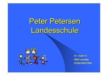 Peter Petersen Landesschule - Blog.de