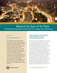 Beyond the Sum of Its Parts - Climate Change - World Bank