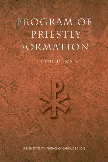 Program of Priestly Formation (fifth edition) - United States ...