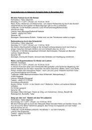 Veranstaltungen November 2011 - LVR - Naturparke Rheinland