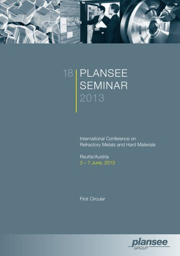 First Circular - PLANSEE Seminar