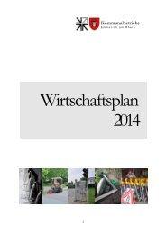 Wirtschaftsplan 2014 - Kommunalbetriebe Emmerich am Rhein