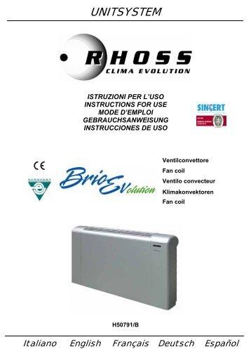 H50791-v0B Manuale Istruzioni BrioEv - Rhoss