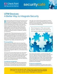 UTM Devices: A Better Way to Integrate Security