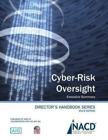NACD Cyber-Risk Oversight Handbook Executive Summary (1)