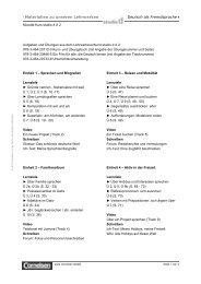 Materialien zu unseren Lehrwerken Deutsch als Fremdsprache