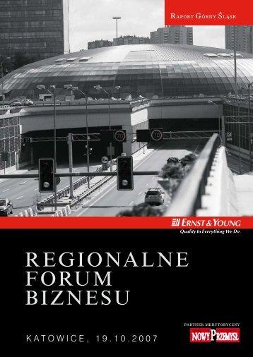 Regionalne Forum Biznesu – Raport Górny Śląsk - Ernst & Young