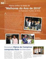"""""""Melhores do Ano de 2010"""" - Sociedade Hípica de Campinas"""
