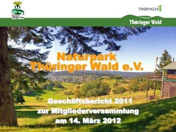 Geschäftsbericht 2011 - Naturpark Thüringer Wald