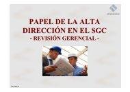 Papel de la alta dirección - Instituto Tecnológico Pascual Bravo