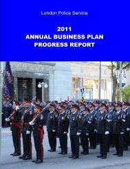 2011 annual business plan progress report - London Police Service ...