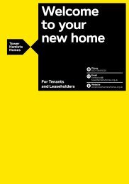 Download 'Welcome to your new home' guide - Tower Hamlets Homes