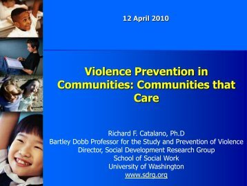 Violence Prevention in Communities: Communities that Care