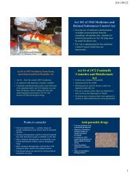 Pharmacology of Fish: Basic Principles Act 101 of 1965 ... - OIE Africa