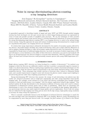 Noise in energy-discriminating photon-counting x-ray imaging ...