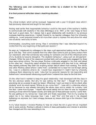 The following case and commentary were written by a student ... - TLS