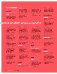 agenda de actividades culturales - Instituto Cervantes