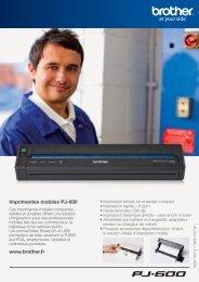 Imprimantes mobiles PJ-600 www.brother.fr - Atelsys
