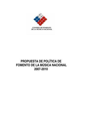 Política de Fomento de la Música Nacional - Consejo de la Cultura y ...