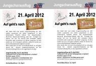 21. April 2012 21. April 2012 - Evangelisches Jugendwerk Bezirk ...