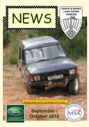 September / October 2010 - Hants & Berks Rover Owners